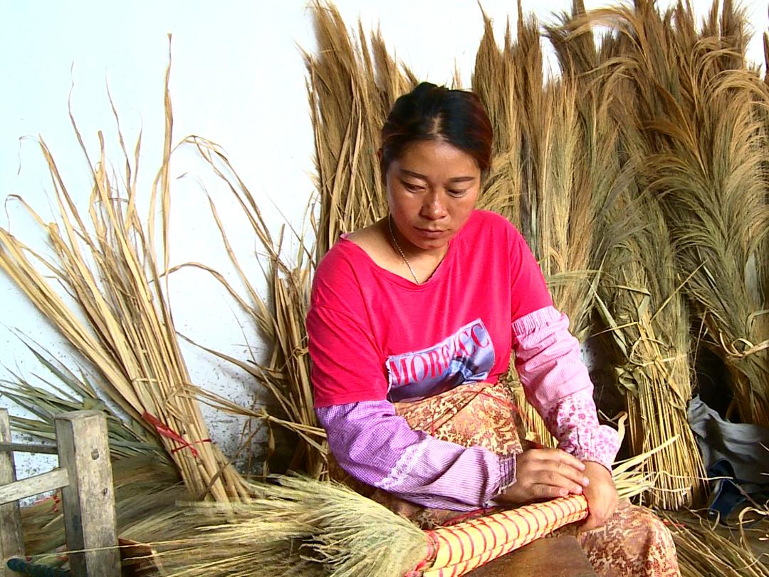 一束芒草蕊,一把甘蔗花莖,這個村寨的小掃把扶成大產業
